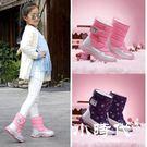 雪靴 女童靴子加絨兒童棉靴防水潮冬季雪地...