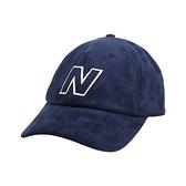 NEW BALANCE 棒球帽(帽子 防曬 遮陽 鴨舌帽 NB 麂皮≡體院≡ LAH03001TNV