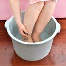 泡腳桶帶按摩高深加高大號洗腳盆家用塑料過小腿足浴桶浴盆洗腳桶 「中秋節特惠」