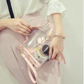 新款透明包包女韓版果凍包沙灘包手提斜挎包單肩小包包潮 居享優品