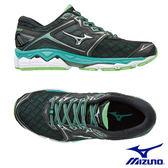 MIZUNO WAVE SKY 慢跑鞋 黑X薄荷綠 J1GD170206 女鞋