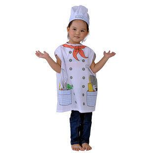 萬聖節 表演 裝扮兒童 廚師衣服