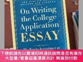二手書博民逛書店(罕見!!)On Writing the College Application Essay, 25th Anni