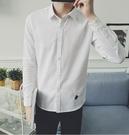 找到自己品牌 男 時尚 街頭 潮 甲殼蟲刺繡圖案 長袖襯衫 特色襯衫