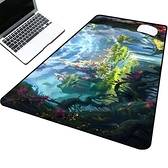 遊戲滑鼠墊電競動漫卡通可愛加厚電腦辦公桌墊鍵盤墊 育心館
