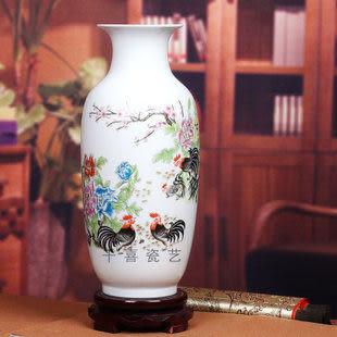 瓷粉彩花瓶冬瓜瓶