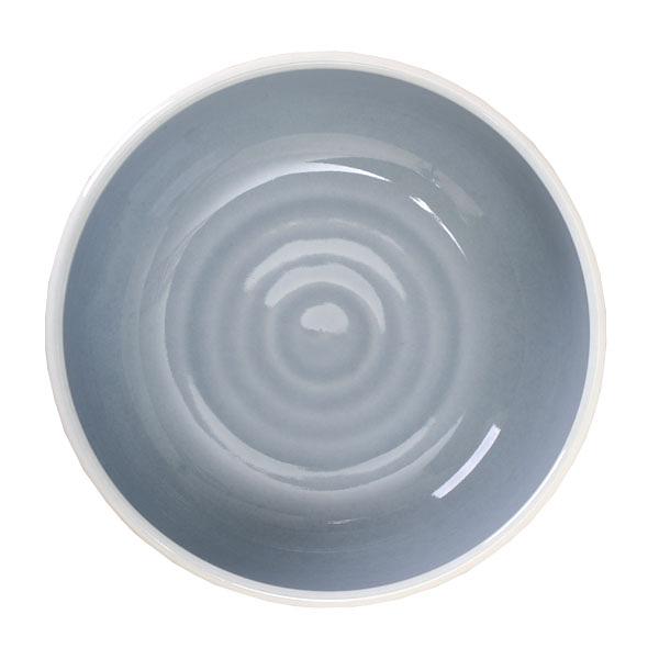 【Luzerne】陸升瓷器 Oyster 11cm 湯碗260ml(B)-灰藍 /OT1120011