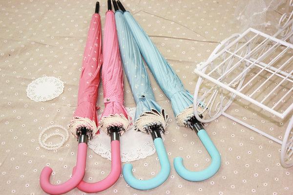 聖誕好物85折 48/8s小清新彎鉤直桿傘晴雨傘金膠防紫外線創意傘