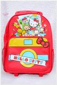 ♥小花花日本精品♥ Hello Kitty 書包後背包T字拉桿書包猴子家族旅行趣42076209