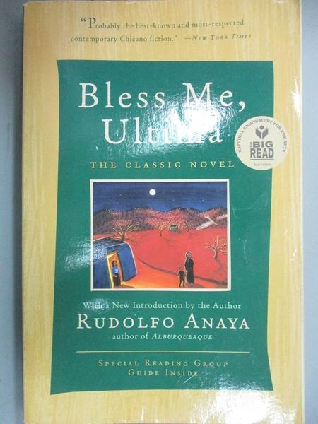 【書寶二手書T5/原文小說_C1E】Bless Me, Ultima_Rudolfo Anaya