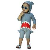 大嘴鯊魚連帽泳帽 平角連身泳衣 泳裝 沖浪服 兒童泳裝 防曬泳衣 泳衣 寶寶 橘魔法 童裝 現貨
