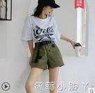 夏季工裝短褲女顯瘦高腰2021新款韓版寬鬆bf休閒褲子港風為于演 蘿莉館品