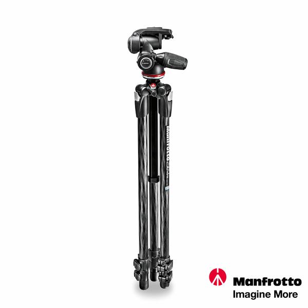 【贈腳架袋】Manfrotto 290 EXTRA 進階碳纖維三節腳架搭三向雲台套組 MK290XTC3-3W 正成公司貨