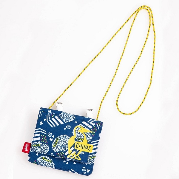 CHUMS Eco Pocket Shoulder Pouch (for KIDS)側背包 藍爆米花 CH602930Z149【GO WILD】