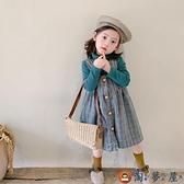 女童背心裙秋冬裝嬰兒童背帶裙寶寶連身裙【淘夢屋】