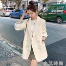 炸街白色小西裝外套2020年新款女春秋季韓版英倫風氣質西服上衣潮 小艾新品
