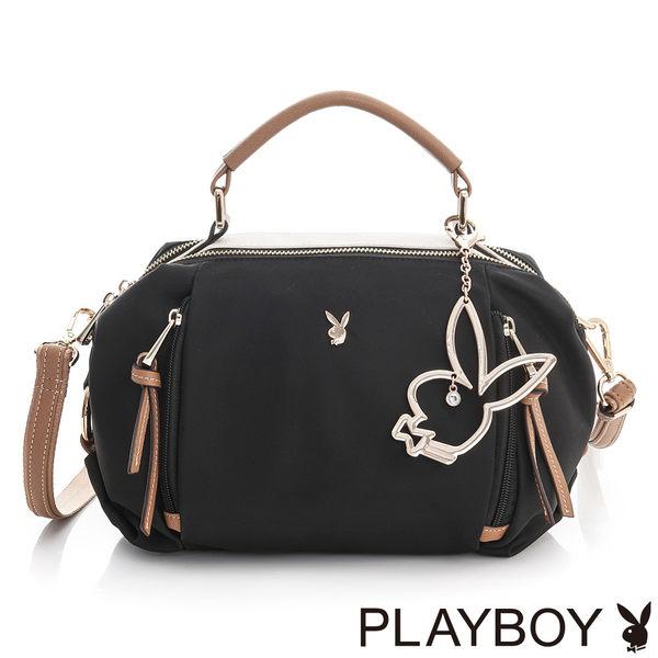 PLAYBOY- 2WAY手提包 Hipster Girl 質感玩家系列-個性黑
