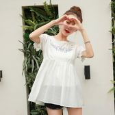 618好康鉅惠孕婦裝寬鬆潮媽中長款夏季短袖純棉T恤