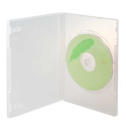 ◆全館免運費◆DigiStone 單片裝DVD超優精裝軟盒鏡面乳白色 25PCS