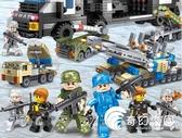 積木-積木軍事特警益智拼裝兒童玩具7男孩子3-6周歲8女孩繫列-奇幻樂園