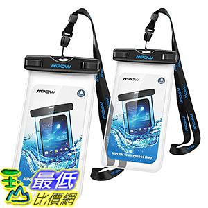 [106美國直購] 防水手機套2入 B01I1430WQ Mpow Waterproof Case, Universal Floating Dry Bag Pouch 6.0吋