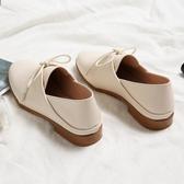 秋鞋女2019新款百搭韓版平底系帶小皮鞋英倫風牛津鞋小白鞋女單鞋