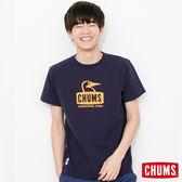 CHUMS 日本 男 Booby Face 純棉短袖T恤 深藍 CH011011N001