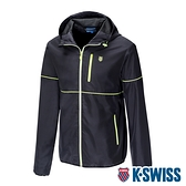 K-SWISS Color Trims Jacket 防曬抗UV防風外套-男-黑