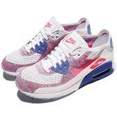 【四折特賣】Nike 休閒慢跑鞋 Air Max Ultra 2.0 Flyknit 白 粉紅 藍 女鞋 飛線編織 【PUMP306】 881109-103