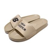 New Balance 涼拖鞋 NB SD1101 卡其 黑 男鞋 基本款 運動拖鞋 拖鞋【ACS】 SD1101HBEM