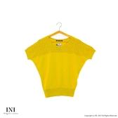 限定回饋【INI】優雅質感、專櫃細膩造型雅緻針織上衣.黃色