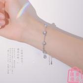 925純銀雙層月光石手鏈女日韓月光森林設計手飾【匯美優品】