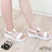 涼鞋 簡約金屬亮面輕量涼鞋 MA女鞋 T1206