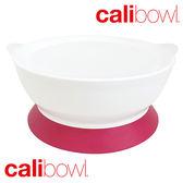 美國 【Calibowl】專利防漏防滑幼兒吸盤碗 (單入附蓋)-粉色