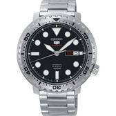 【台南 時代鐘錶 SEIKO】精工 盾牌五號 潛水風格機械錶 SRPC61J1@4R36-06N0D 黑/銀 45mm