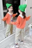 網紅女童套裝新款秋裝韓版女孩洋氣加絨童裝厚兒童衛衣兩件套  俏女孩