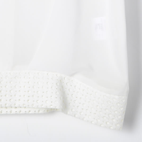 【REICO HSU 許瑋玲】造型洞洞拼接透氣雪紡上衣