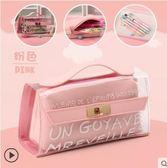 鉛筆盒  透明鉛筆袋高中小學生用文具袋 韓國簡約小清新韓版創意 城市科技