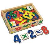 【佳兒園婦幼館】美國瑪莉莎 Melissa & Doug  -數學木質磁鐵貼 - 37 pcs
