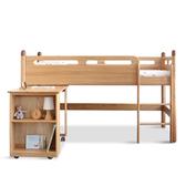 源氏木語火柴棒橡木雙層兒童床組 (含書桌) Y16B07