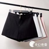 短褲-韓版短褲女新款外穿夏季高腰顯瘦休閑寬松黑色闊腿褲潮-奇幻樂園