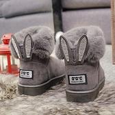 雪靴女2019新款冬季韓版百搭加絨短筒學生時尚保暖厚底短靴棉鞋