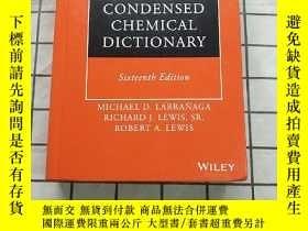 二手書博民逛書店Hawley s罕見Condensed Chemical Dictionary Y268220 Michael