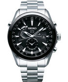 廣告款 SEIKO ASTRON GPS 電波太陽能鈦金屬腕錶-黑/銀/47mm 7X52-0AA0D