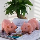 樹脂工藝品花園裝飾黑豬模型仿真動物禮物女生小豬擺件創意可愛YYP 傑克型男館