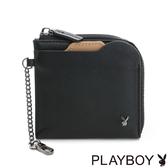 PLAYBOY- L型拉鍊零錢包 Function系列-黑色