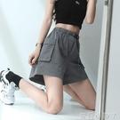 工裝短褲女寬鬆夏季薄款運動五分褲百搭休閒褲顯瘦闊腿熱褲ins潮 蘿莉館品