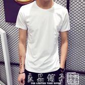 夏天靜面凈版中袖T恤血桖體丅男衫小衫土杉汗衫韓式打低短衫寬鬆      良品鋪子