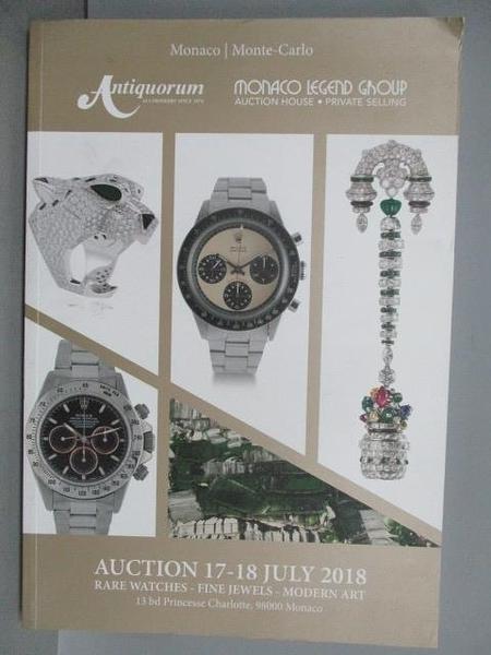 【書寶二手書T5/收藏_FIA】Rare Watches-Fine Jewels-Modern Art_2018/7/17-18