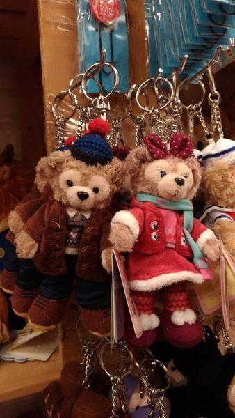 【香港迪士尼代購】冬日聖誕款【鑰匙圈】附樂園指南+袋子 達菲 Duffy 雪莉梅